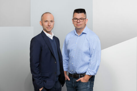 Dr. Mirko Caspar und Dirk Graber, Vorstand Mister Spex