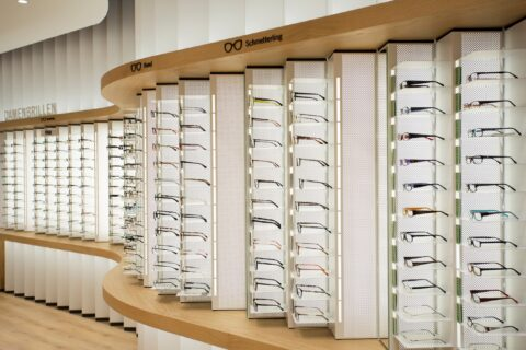 Glasses in the Mister Spex store Berlin