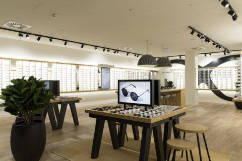 Innenansicht Mister Spex Store Wien / Shopping City Süd